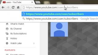 How to See WHO is subscribed to you!