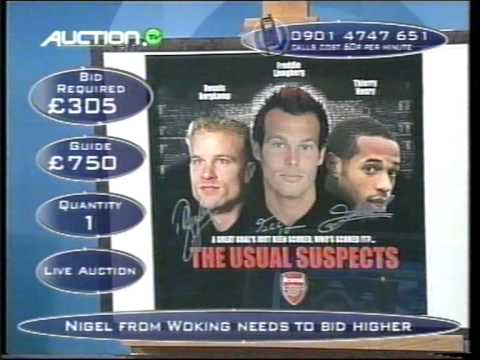 Arsenal Usual Suspects Poster Auction World.tv