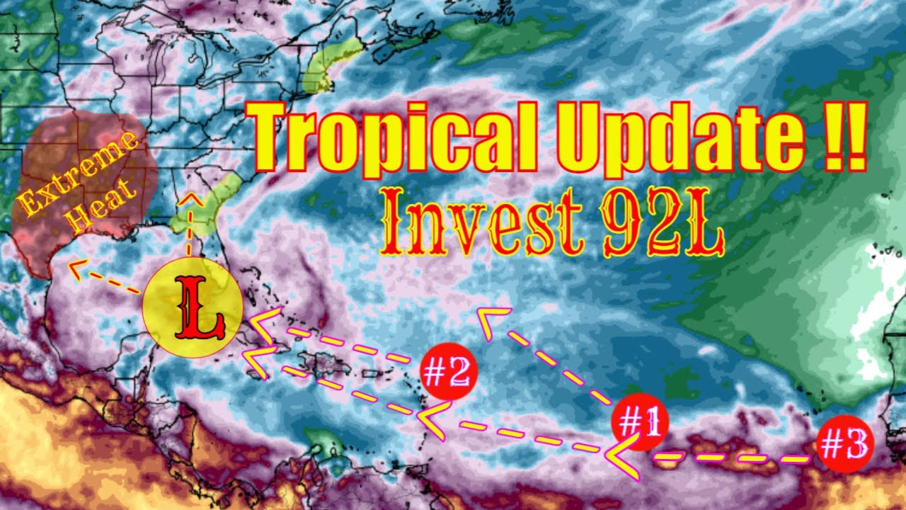 Tropical Update Invest 92L & Big Warm-up Coming! - The WeatherMan Plus Weather Channel