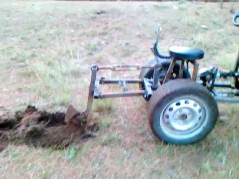 Homemade Tractor Ploughing