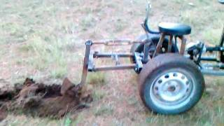 Tractor pto stump grinder home made for Killing tree stumps with motor oil