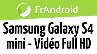 Samsung Galaxy S4 mini - Qualité video FHD 1080p