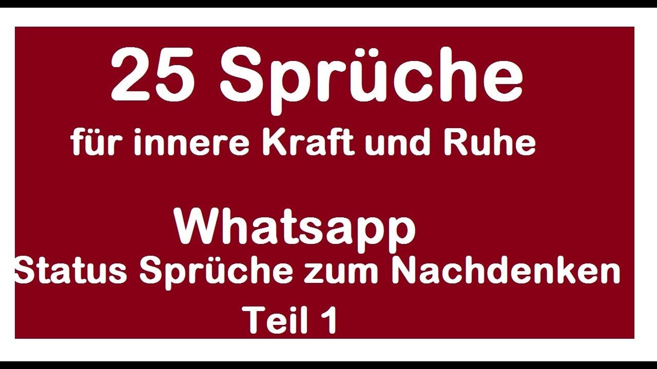 Whatsapp Status Spruche Zum Nachdenken Sowie Fur Innere