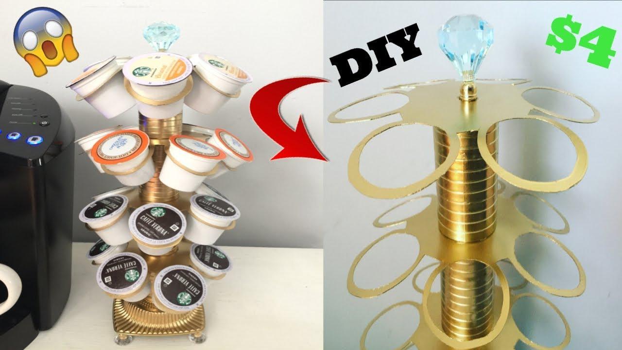 dollar tree diy k cup holder super glam youtube. Black Bedroom Furniture Sets. Home Design Ideas