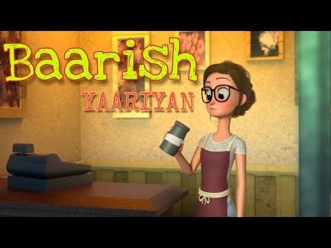 Song Baarish | Yaariyan | Cartoon Video | Animated Love Story | Bollywood Animation Zone |