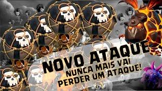 NOVO ATAQUE - BALÃO + SERVOS + LAVA = 100% - CLASH OF CLANS