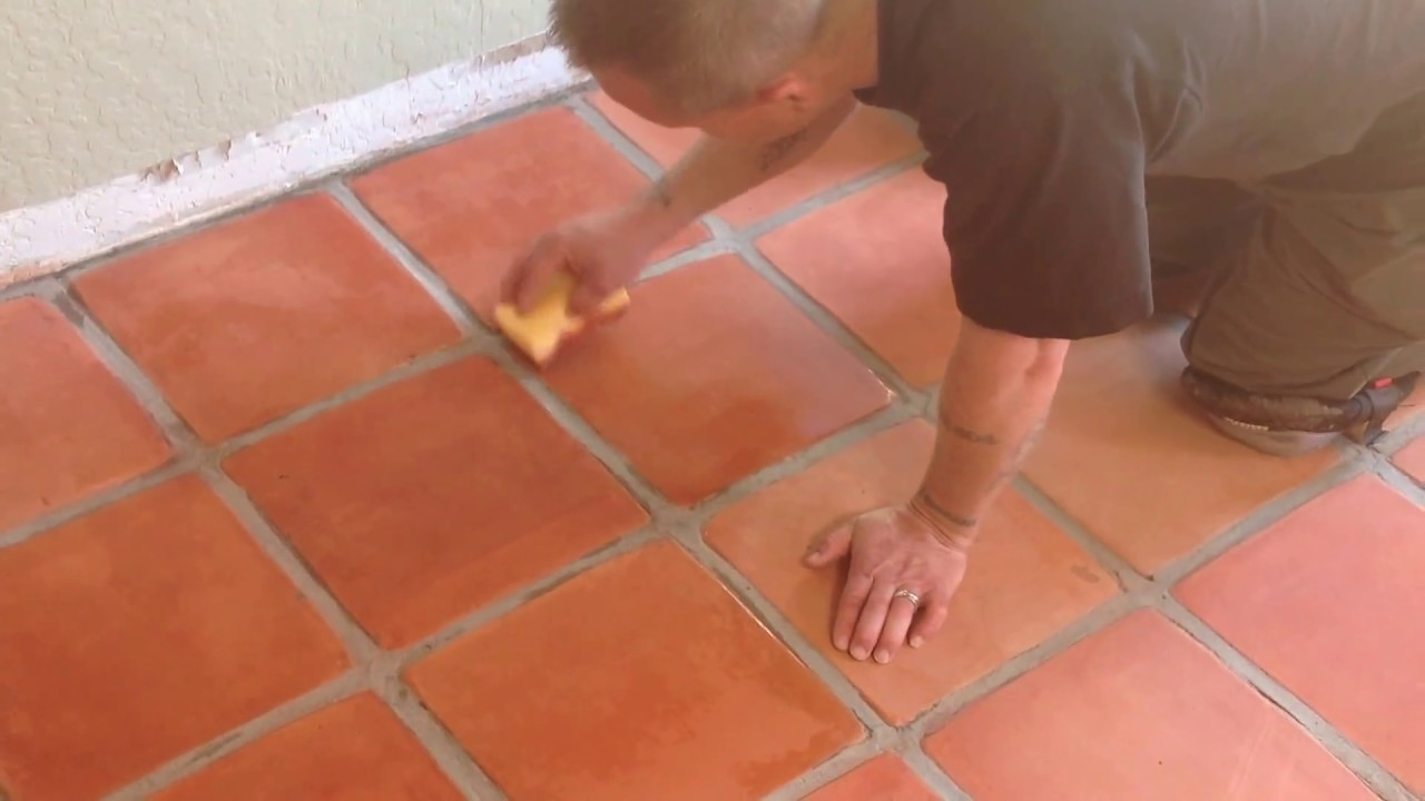 how to stain saltillo tile floor