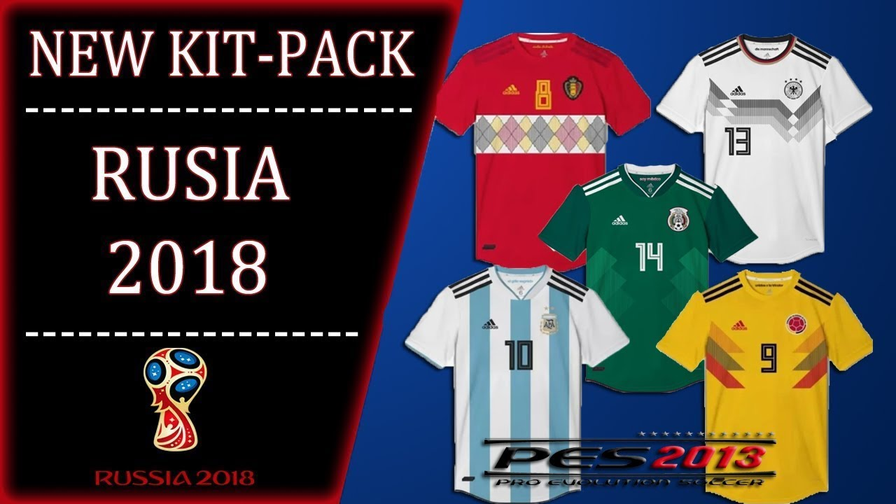 نتيجة بحث الصور عن ‪PES 2013 🌏 · 32 OFFICIAL KITS WORLD CUP RUSSIA 🏆🇷🇺 2018 HD‬‏