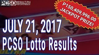 PCSO Lotto Results Today July 21, 2017 (6/58, 6/45, 4D, Swertres & EZ2)