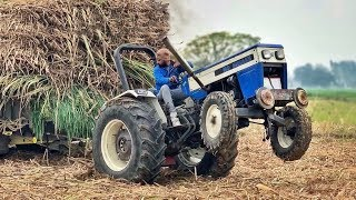 Breakan Fail Group || pull Fully Loaded stuck trali in mudd || with Swaraj 744 ,,New Holland 3630 ||