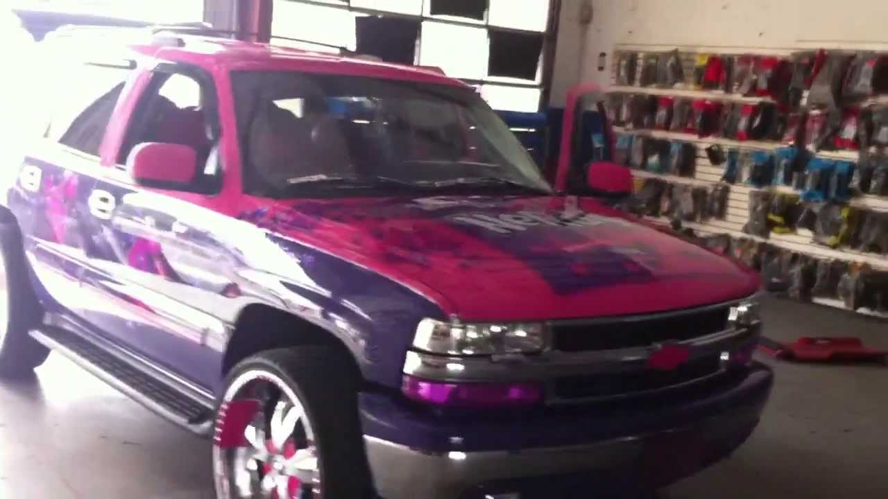 CHEVY TAHOE FULLY CUSTOM WITH NERDS PAINT JOB!!! - YouTube
