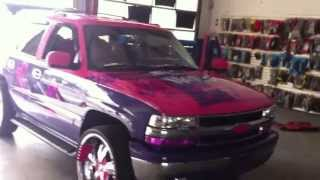 CHEVY TAHOE FULLY CUSTOM WITH NERDS PAINT JOB!!!
