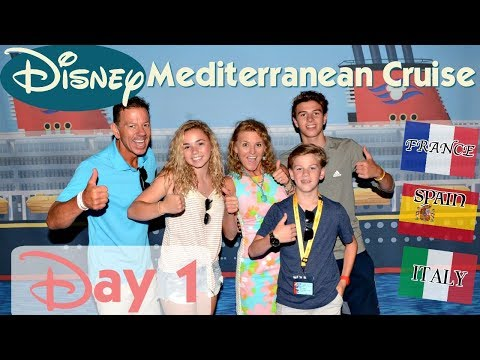 IT'S OUR DISNEY MEDITERRANEAN CRUISE | DAY 1: WELCOME ABOARD in BARCELONA!