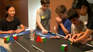mini competition 2 part 1   2x2 and pyraminx w the whole crew