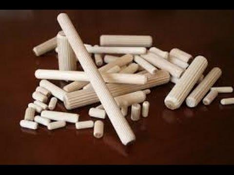 видео: Как сделать мебельные шканты с бороздками для выхода клея.how to make furniture dowels.