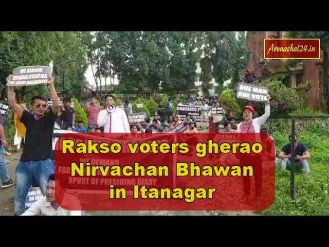 Arunachal- Rakso voters gherao Nirvachan Bhawan in Itanagar