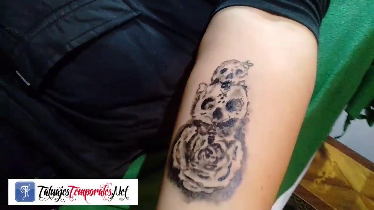 Tatuajes Temporales Badabun tatuaje temporal calaveras lima peru - youtube