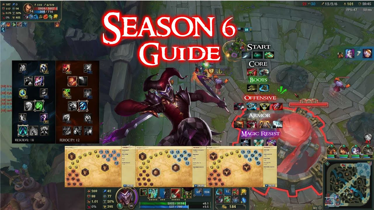 Shaco Build S7: My Season 6 Shaco Build-Masteries-Runes(League Of Legends