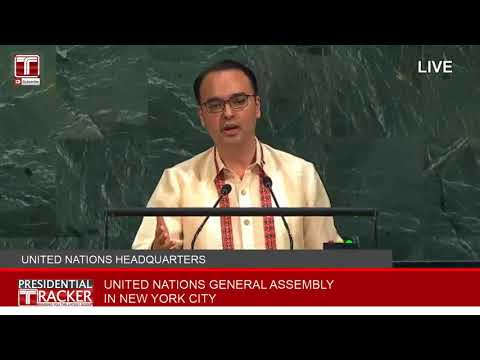 Philippine DFA Secretary Alan Peter Cayetano - SPEECH AT UN  Sep 23 2017