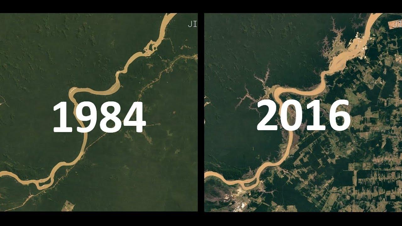 Imagens De Satelite 1984 2016 32 Anos De Mudancas Na Terra Youtube