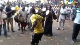 Ghana Black Stars striker Abdul Majeed Waris in traditional Tamale dance