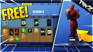 HOW TO UNLOCK FREE SEASON 8 BATTLE PASS! WORST TIER 100 EVER!! (Fortnite Season 8 Reaction)