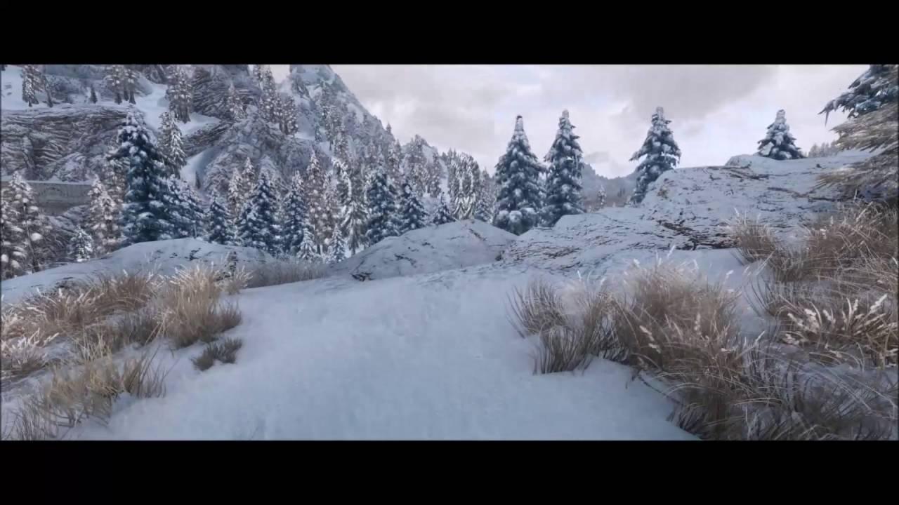 Elder Scrolls V: Skyrim NLA ENB gameplay Snow Region