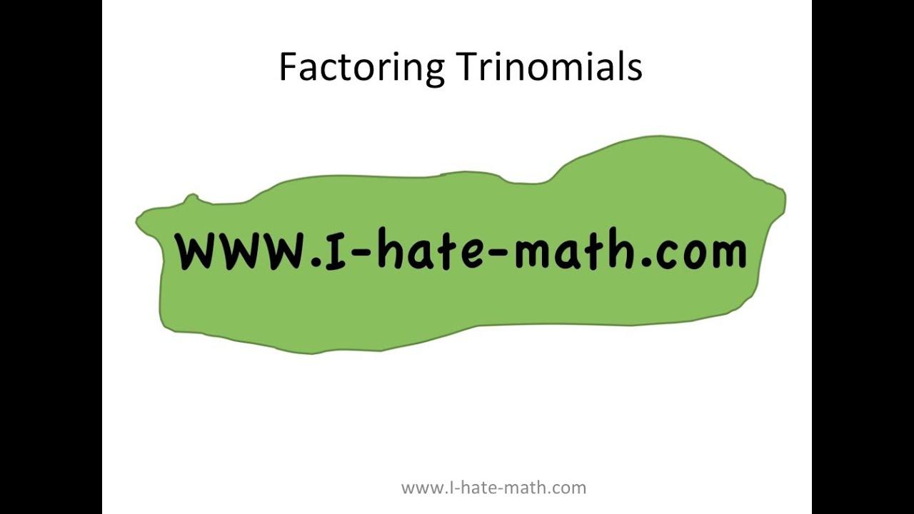 Factoring Trinomiasl example 3, Pert test, algebra review - YouTube