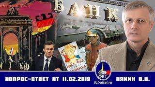 Валерий Пякин. Вопрос-Ответ от 11 февраля 2019 г.