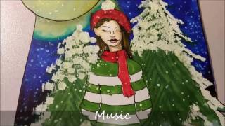 Happy Holidays | Christmas Card Drawing- Copic Drawing