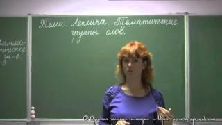 Лексика. Тематические группы слов