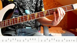 The Trammps - Disco inferno (Bass Tutorial with TABS)