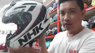 Review HELM NHK GP 1000 WHITE BLACK.😉