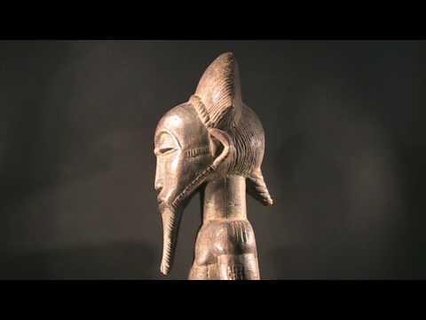 African Art. Baule figure. Ivory Coast.