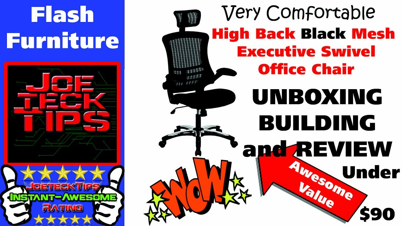 High Back Black Mesh Executive Swivel Office Chair Flash