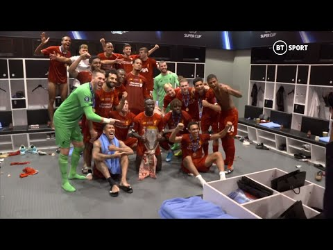 Inside Liverpool's changing room as Klopp's men celebrate UEFA Super Cup win!
