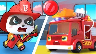 Fire Siren is On - Fire Truck | Police Cartoon | Nursery Rhymes | Kids Songs | Kids Cartoon |BabyBus