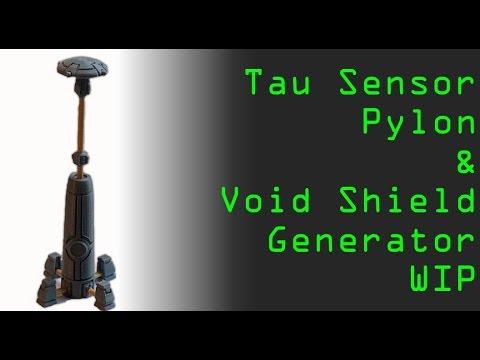Custom Tau Sensor Tower & Void Shield Generator WIP - YouTube
