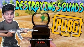 Destroying Squads in PUBG Mobile (23 kills) *Less Commentary*