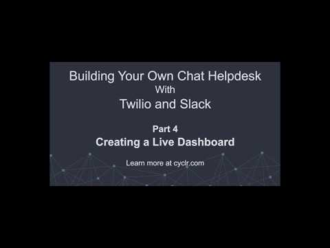 Build your own chat helpdesk: Part 4- Creating Call Centre Dashboard