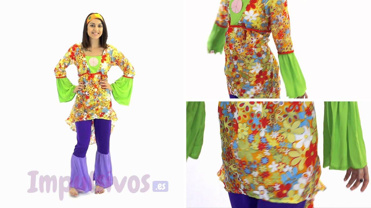 Disfraz de hippie para chica youtube for Disfraz de hippie