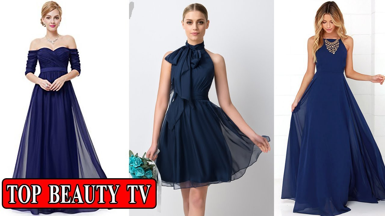 Navy bridesmaid dresses navy blue bridesmaid dresses for for Navy blue dresses for wedding