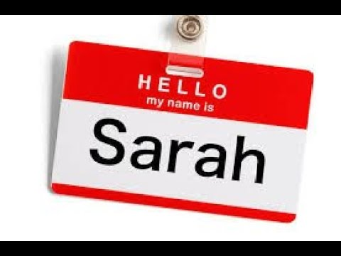 Kabbalah of Jewish Names: Sarah - שרה