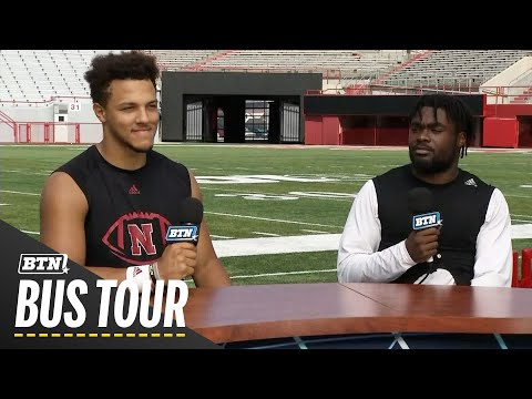 Adrian Martinez and JD Spielman Talk Nebraska Offense | 2019 BTN Bus Tour | B1G Football