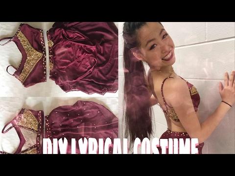 HOW I MADE MY DIY LYRICAL DANCE COSTUME !!!