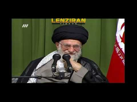 Ayatollah Khamenei listen to poem and laugh !