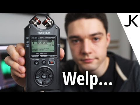 Tascam DR-40X Review (Noise, Battery Life and more things tested!)