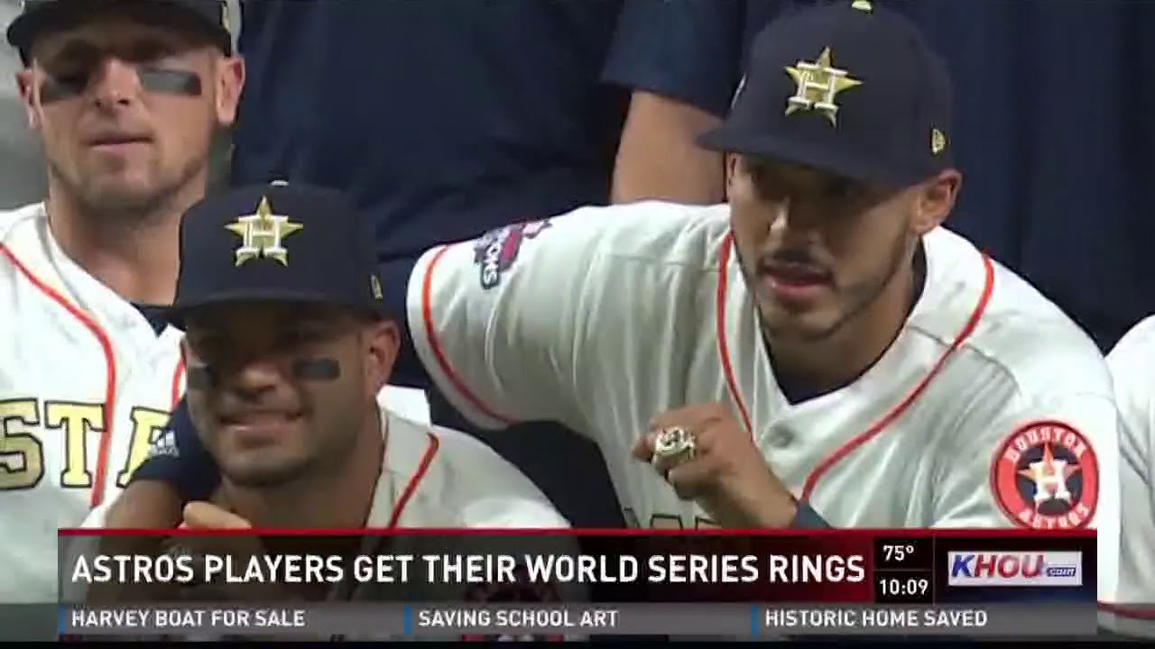 Astros players get their World Series rings - YouTube b14b4d6805a6