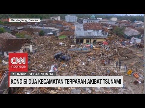 Penampakan dari Udara Kondisi Dua Kecamatan Terparah Akibat Tsunami