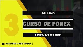 CURSO DE FOREX INICIANTES META TRADE4- MT 4  LOGIN E CONFIGURAÇÃO (AULA 3)